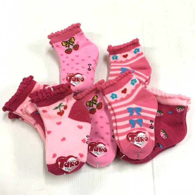 💥4คู่100 ถุงเท้าเด็กหญิงเนื่อคิริคหนานุ่ม ไซส์0-3,3-