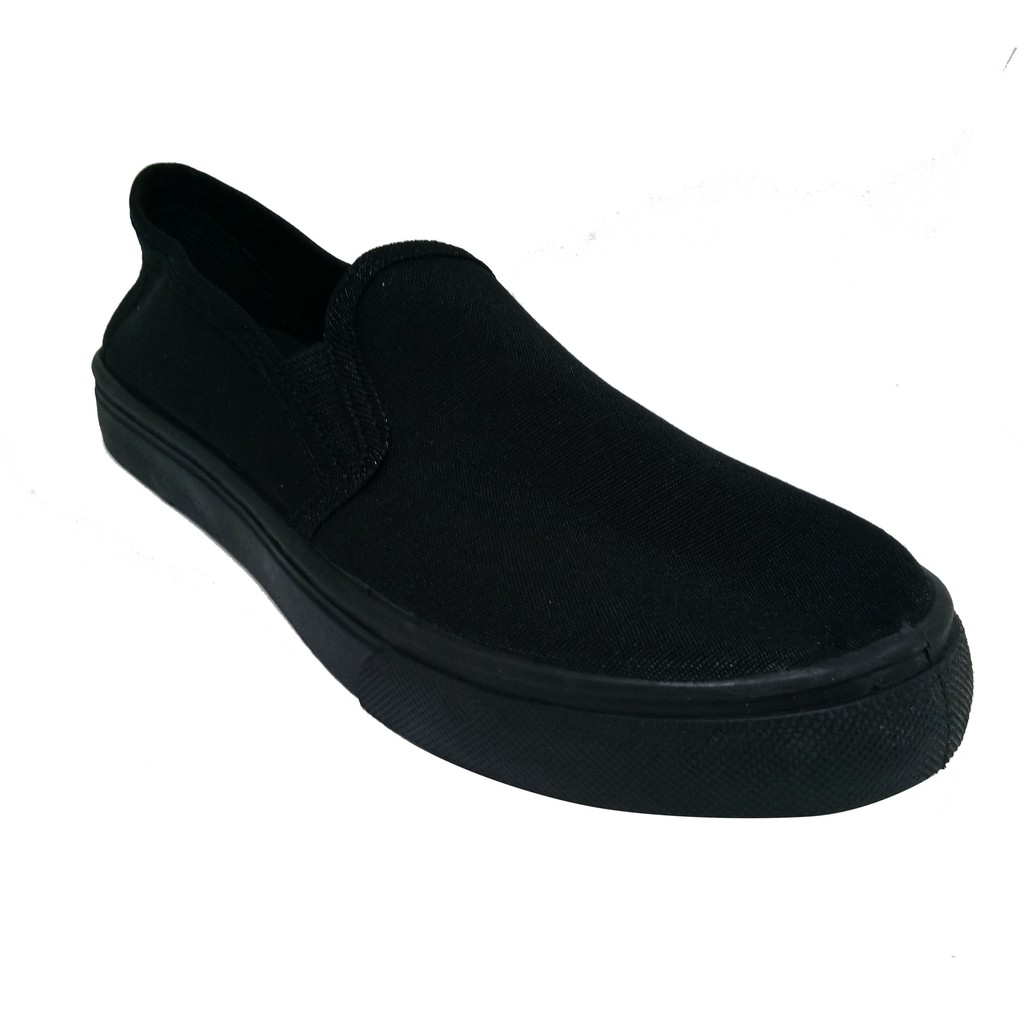 SHL Unisex Flat Heel Hand made cloth Black Working Shoes