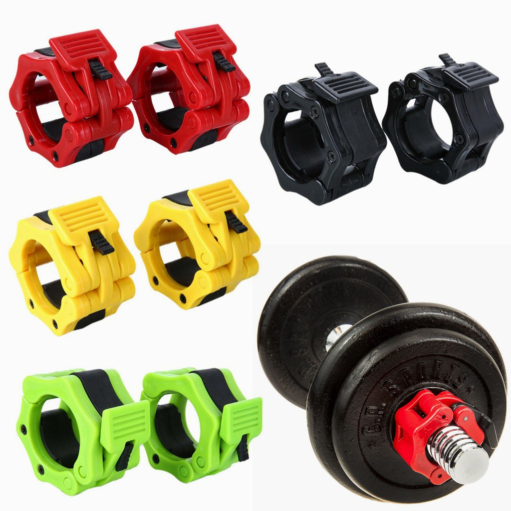 """2* 1-2/"""" Olympic Spinlock Collars Barbell Dumbell  Clamp Weight Bar Lock 3 Colors"""
