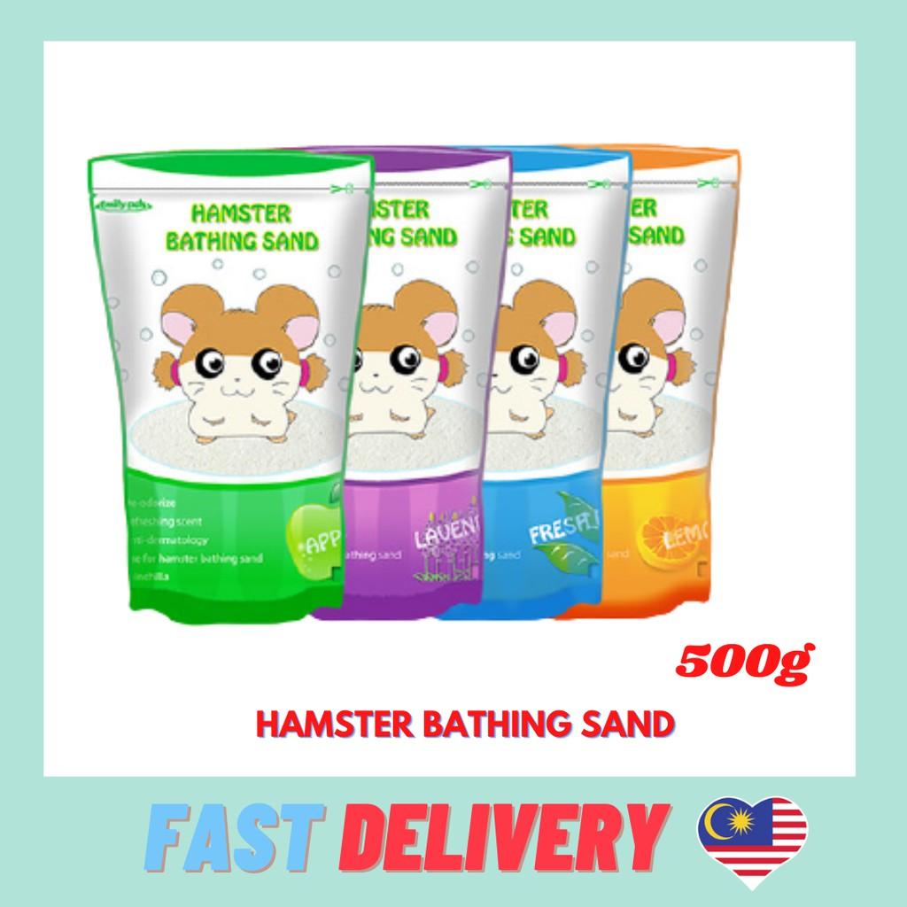 Hamster Bathing Sand 500G – Lemon / Apple / Lavendar / Fresh Mint Hamster Bathroom