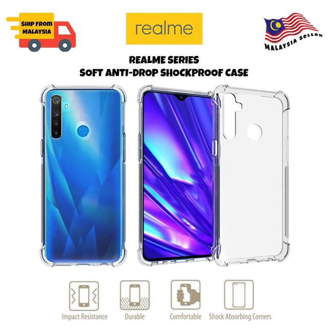 Realme 5/5i/5s/6i/XT/X2Pro/5pro/3pro/c2/c1/2 Anti-Shock Soft Case