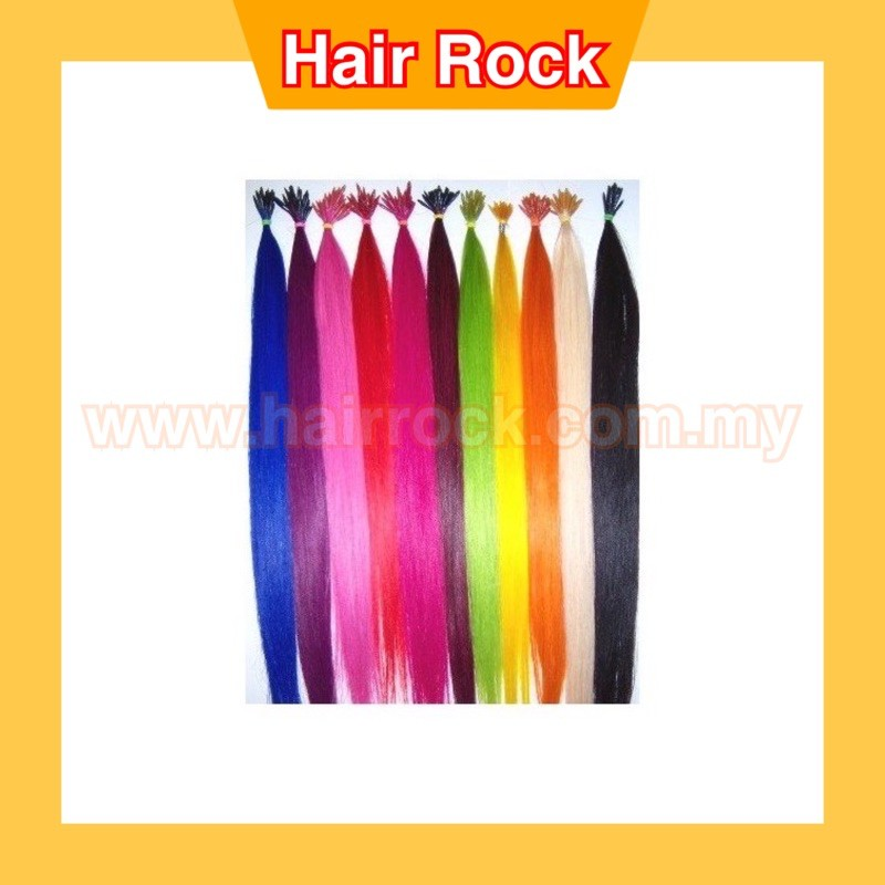 REAL HAIR I-TIP COLOURED HAIR EXTENSIONS