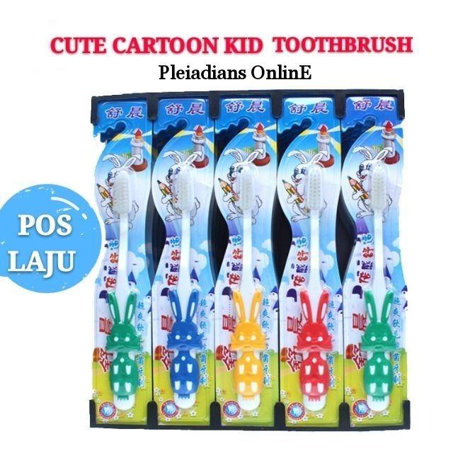 [ READY STOCK ]  Children Soft Hair Cute Cartoon Clean Teeth Antibacterial Training Toothbrush Kid Baby Jualan Murah
