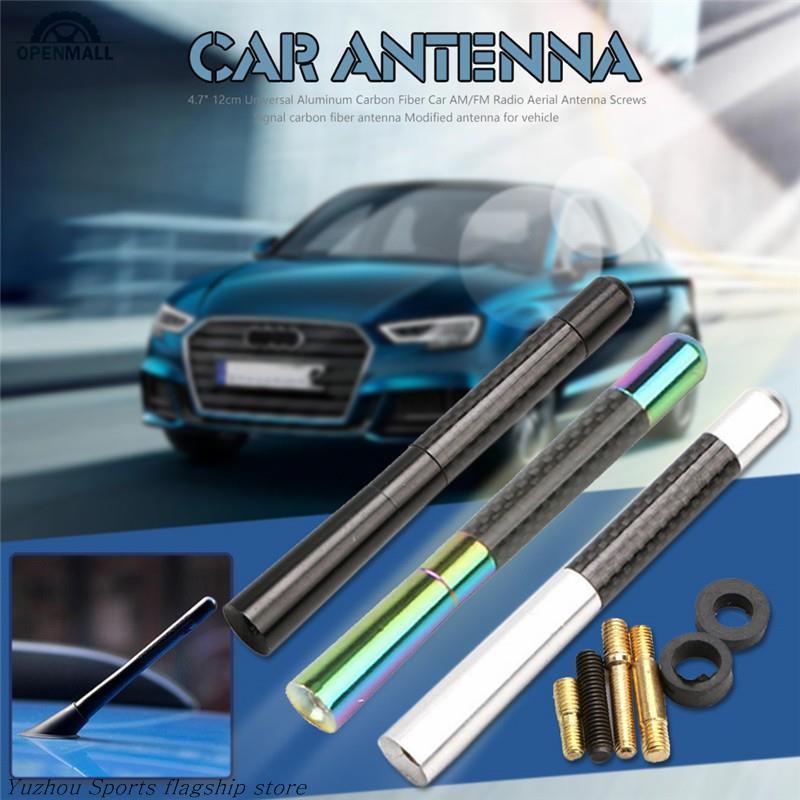 4.7 Universal Carbon Fiber Aluminum Car AM//FM Radio Aerial Antenna with Screw