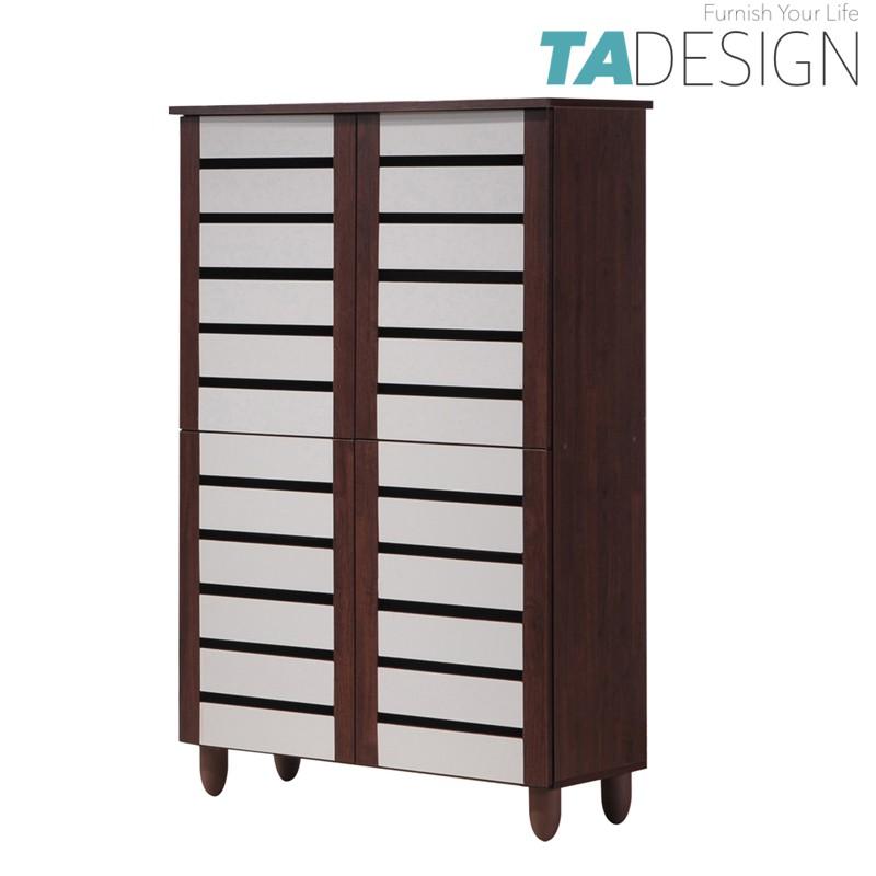 Furniture Direct shoe cabinet wooden 4 Door good air ventilation almari kasut kayu ikea