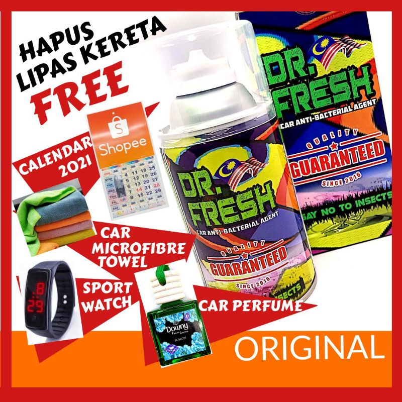 [ Promosi ] Original DR Fresh Car Antibacterial Penghapus Serangga Lipas
