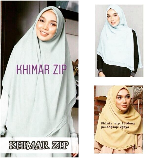 Khimar Zip Bidang 50 New Arrival Shopee Malaysia