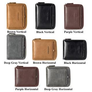 Shopee Men's Bags & Wallets Men's Wallets Short Wallet Baellerry Leather Men Wallets Male Wallet Vintage Zipper Coin Purse Small Wallet. like: 100