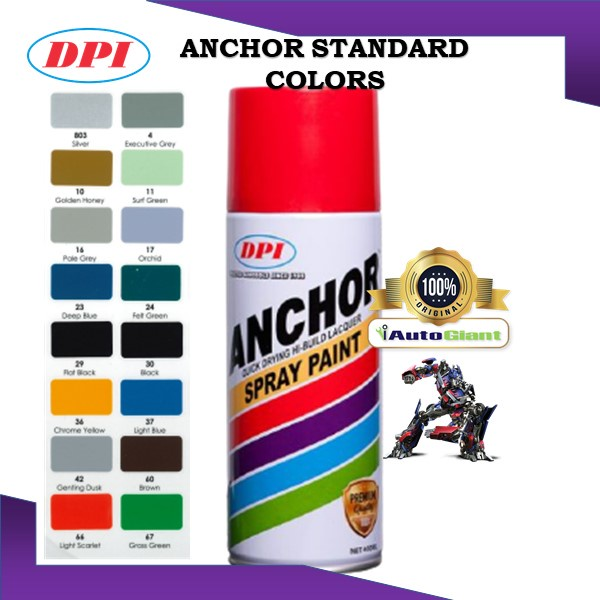 ANCHOR MOTORCYCLE SPRAY PAINT STANDARD COLOR 400ML (V2)