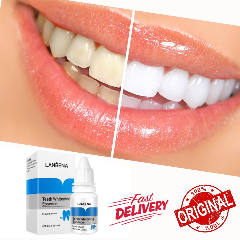 LANBENA TEETH WHITENING ESSENCE SERUM REMOVES PLAQUE STAINS TOOTH BLEACHING ORIGINAL