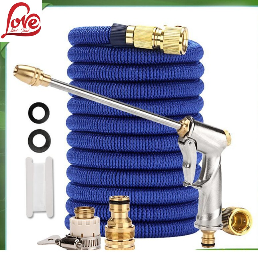 Function High Pressure Car Home Blue Wash Sprayer Cleaner Nozzle Water Gun Hose