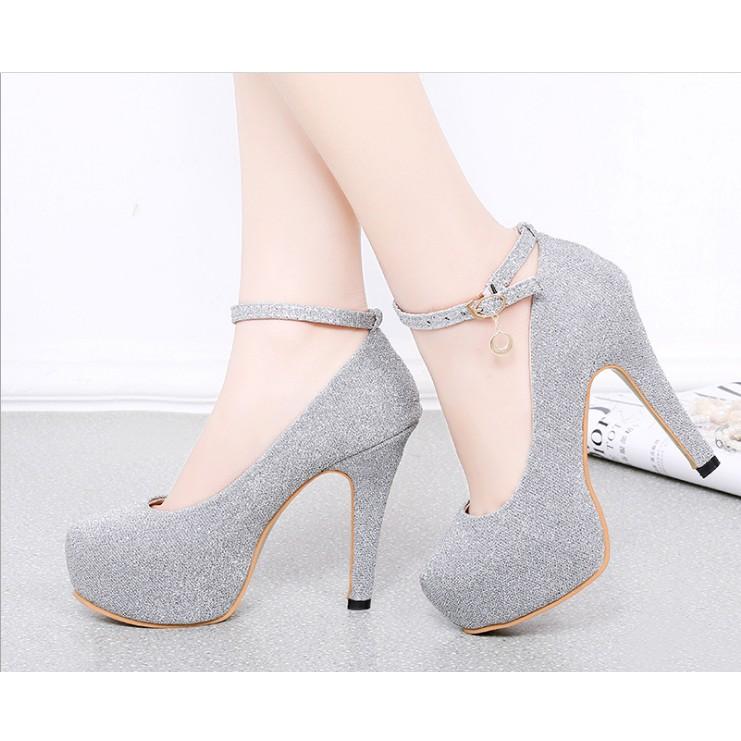 5d2a028c8ba7 ❤️Ready Stock❤️Black Sequin Kasut Wanita Tumit Tinggi Women High Heels 12 cm❤