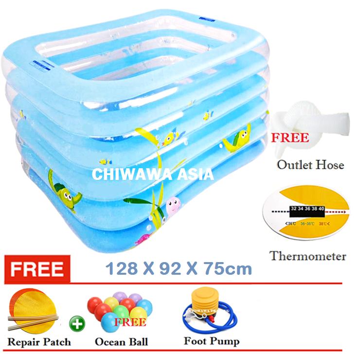 PROMOTION JL017406  Inflatable Swimming Pool Safe PVC Bath Basin KOLAM KANAK