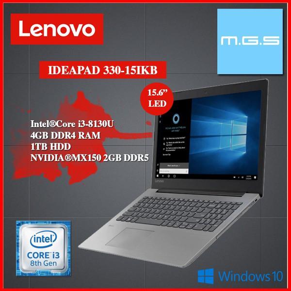 LENOVO IDEAPAD 330-15IKB ( i3-8130u ) 81DE01Y8MJ NOTEBOOK - BLACK ( i3  8130U/4GB/1TB/MX150 2GB DDR5)