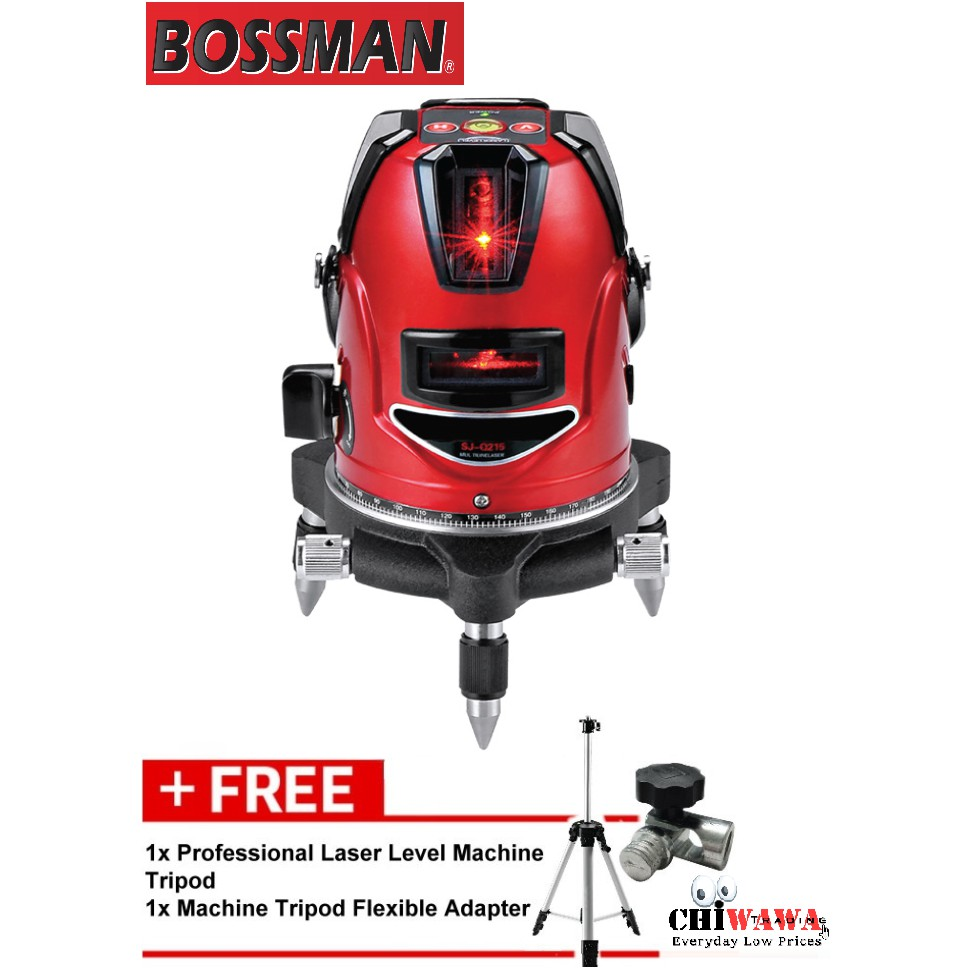 Bossman Professional Level Laser Machine Bsj215 Shopee Malaysia Bosch Gll 3 15 Mini