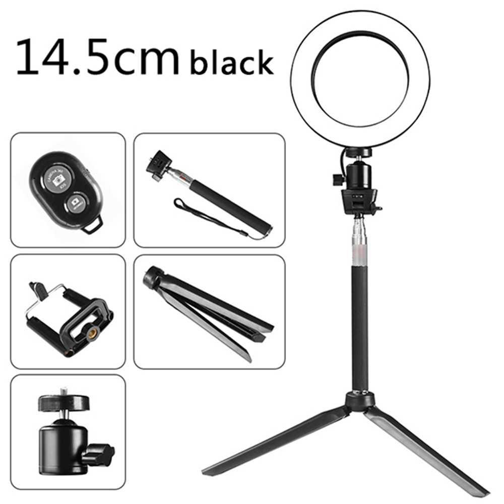 DC5V 5W 64 LED Ring Light Round Selfie Camera Lamp