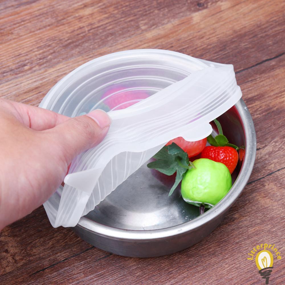 Silicone Fresh Cover Bowl Pot Pan Lid Food Wrap Kitchen Utensil Kitchen HomeTool