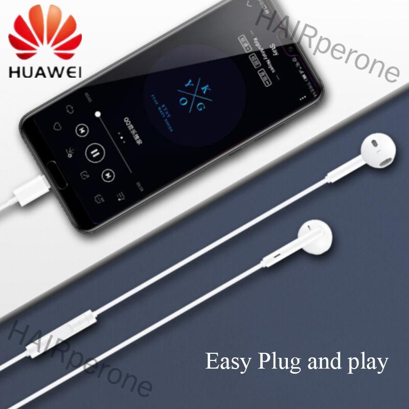 HAIRperone Huawei P20 Pro Mate10 USB Type-C Earphone Stereo Headphones with Mic & Volume