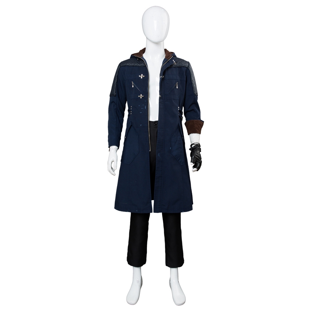 DMC5 Devil May Cry V Nero Outfit Cosplay Costume Outfit Jacket Shirt Full Set