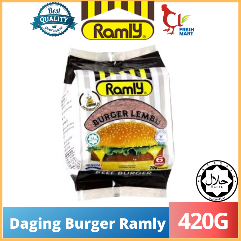 Original Daging Burger Ramly (420g) 70g/6pcs