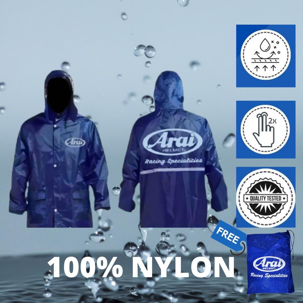 MYRIDER ARAI [WHOLESALE] Raincoat Rain Coat Rainsuit Baju Hujan ARAI Motorcycle Bike Bicycle Baju Hujan Murah