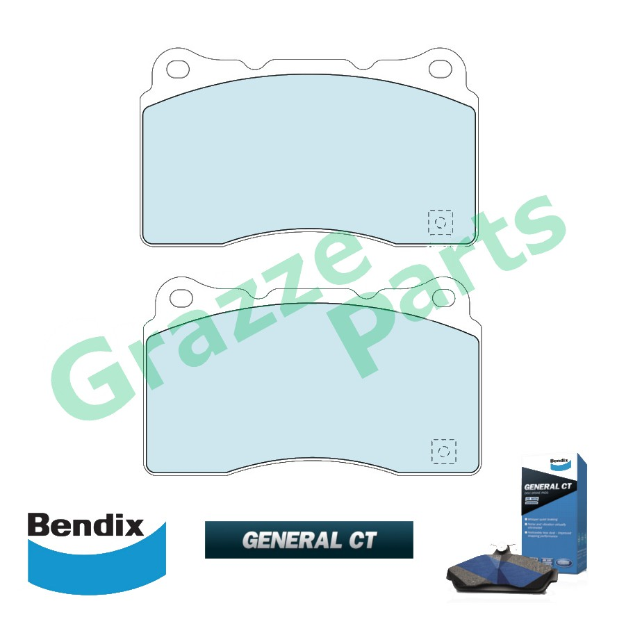 Bendix General CT Disc Brake Pad Front for DB1678 Mitsubishi Evolution 5 6 7 8 10 (Brembo)