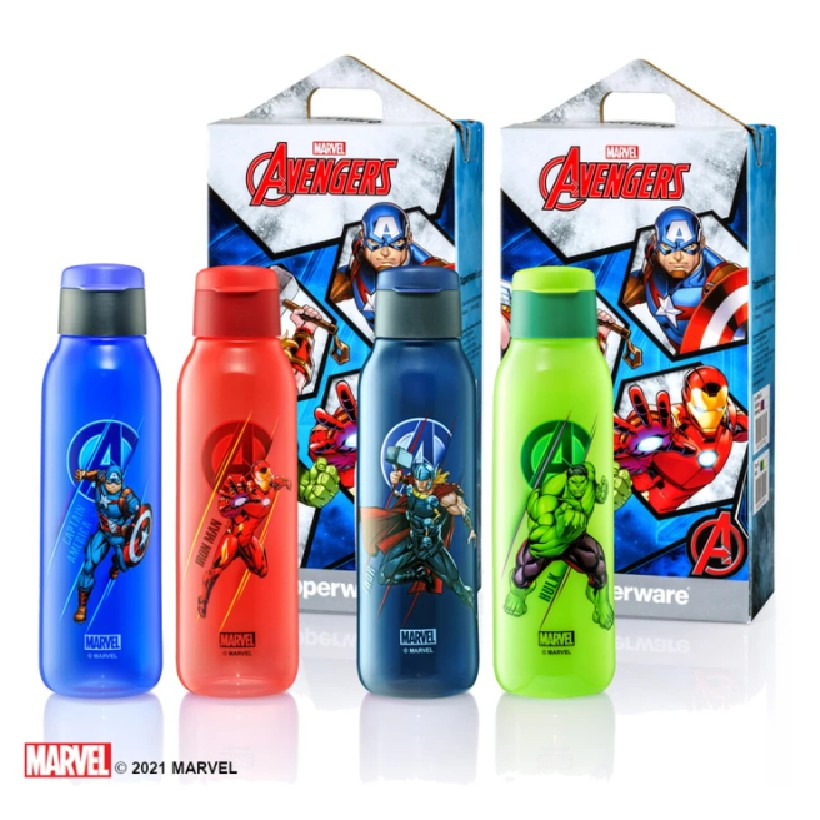 [READY STOCK] Tupperware Avengers Eco Bottle - 750ml (Selling Loose)
