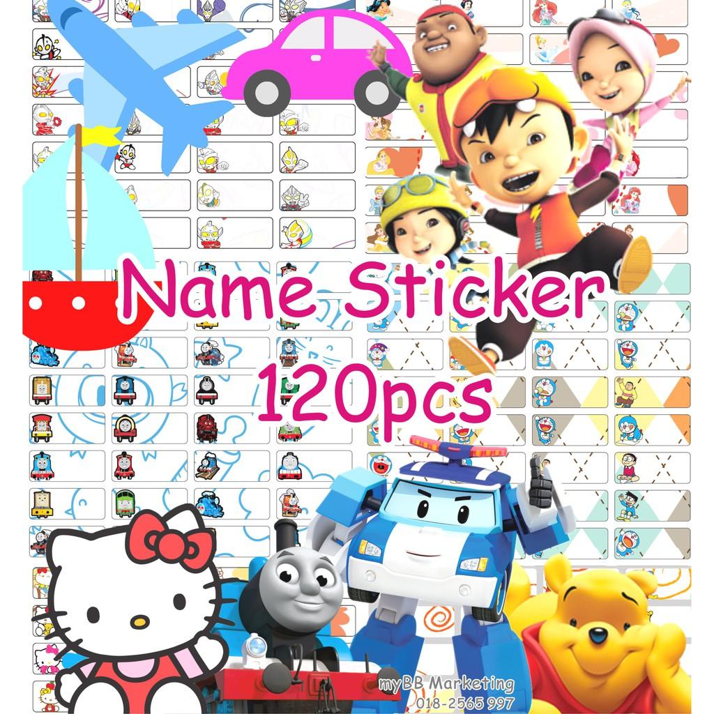 120pcs Name Sticker (waterproof)(Ready Stock)