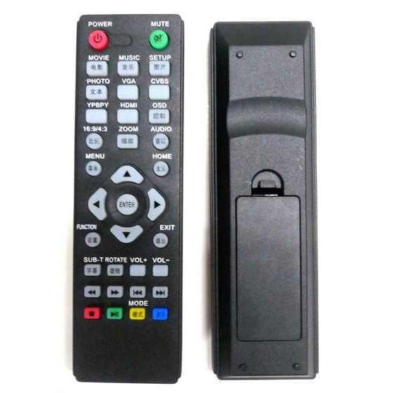 Remote Control for M3 M3s Full HD Media Player rev2