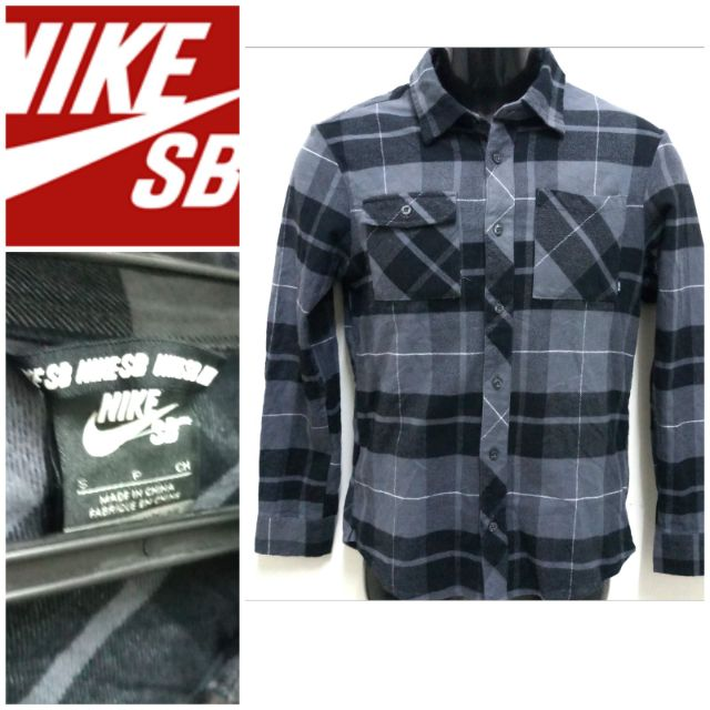 official images clearance sale limited guantity NIKE SB FLANNEL SHIRT RARE S SIZE