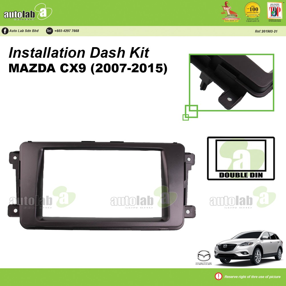 Player Casing Double Din Mazda CX9 2007-2015