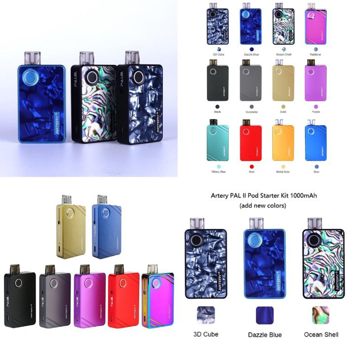 100 New Original Artery Pal Ii Pod Mod Starter Kit 3ml Cartridge