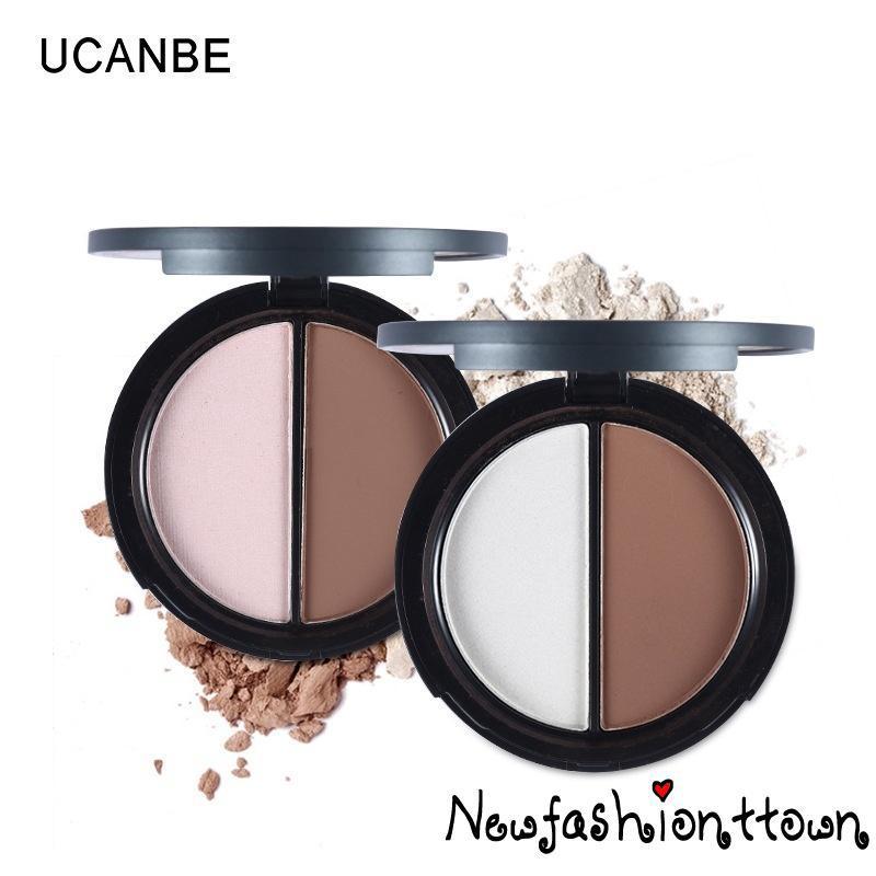 ღtwღ2 Color Makeup Face Highlighter & Bronzer Palette