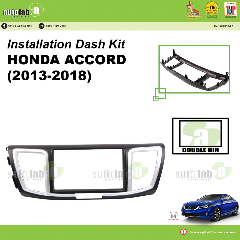 Player Casing Double Din Honda Accord 2013-2018
