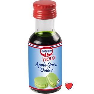 Dr.Oetker Nona Green Apple Colour 25ml ( Free Fragile + Bubblewrap Packing )