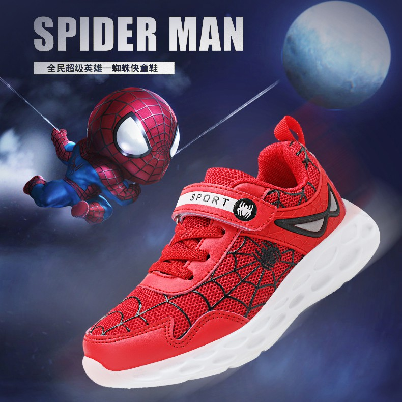 Kid Boy Sneaker Running Shoes Basketball Boots Super Hero Athletic Sneakers