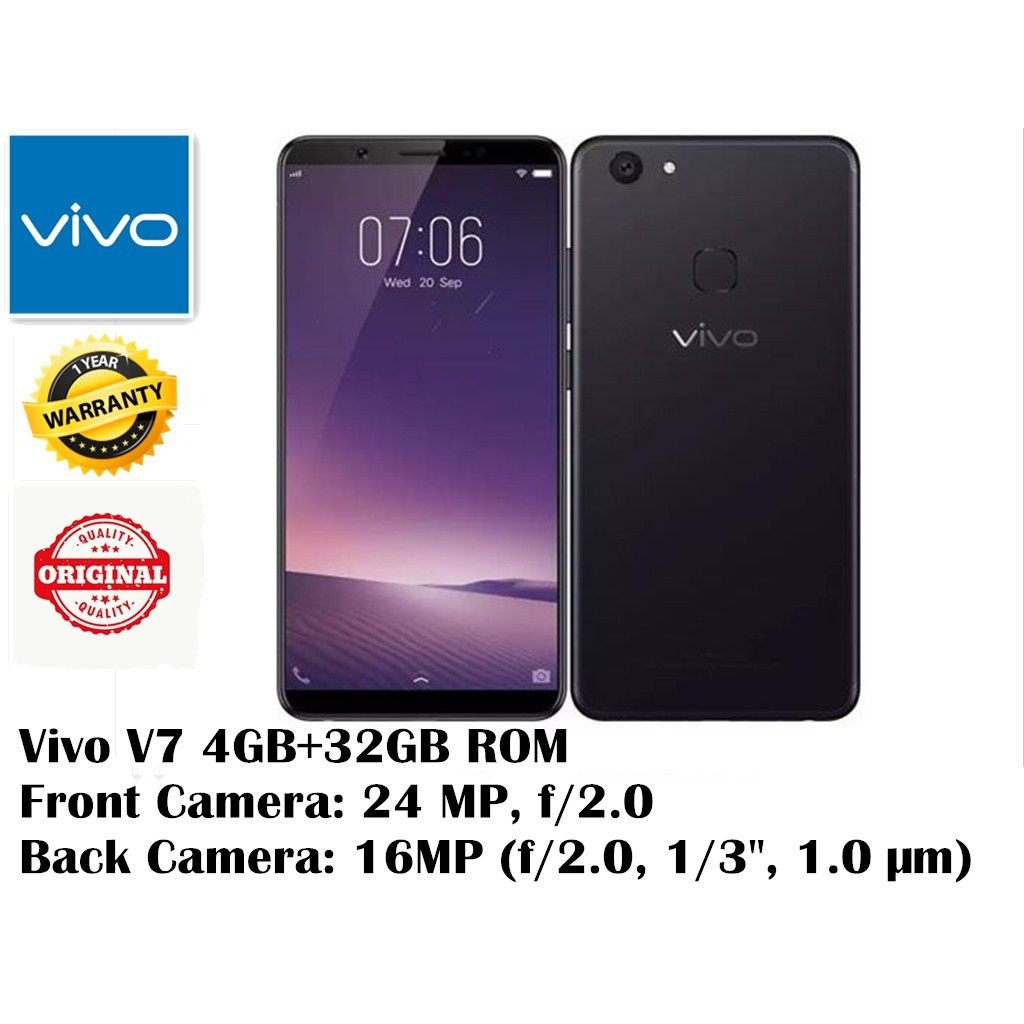 Vivo V7 24mp Clearer Selfie Fullview Display Original