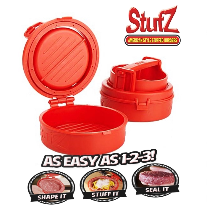 Patty Maker Stufz Stuffed Burgers Sealed