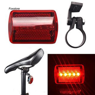 Red 5 LED Lamp Back Cycling Bike Bicycle Rear Tail Light Safety Flashing Warning