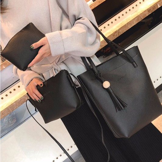Women Set Bags Crossbody Bag Shoulder Bag Tote Bag (3 in 1) #Beg Wanita