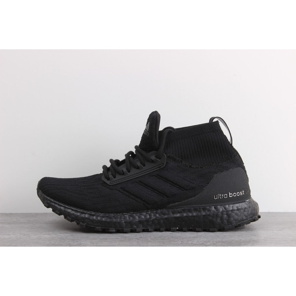 230972ebf5f Adidas Ultra Boost ATR Mid black and white socks running shoes S82036  sneaker