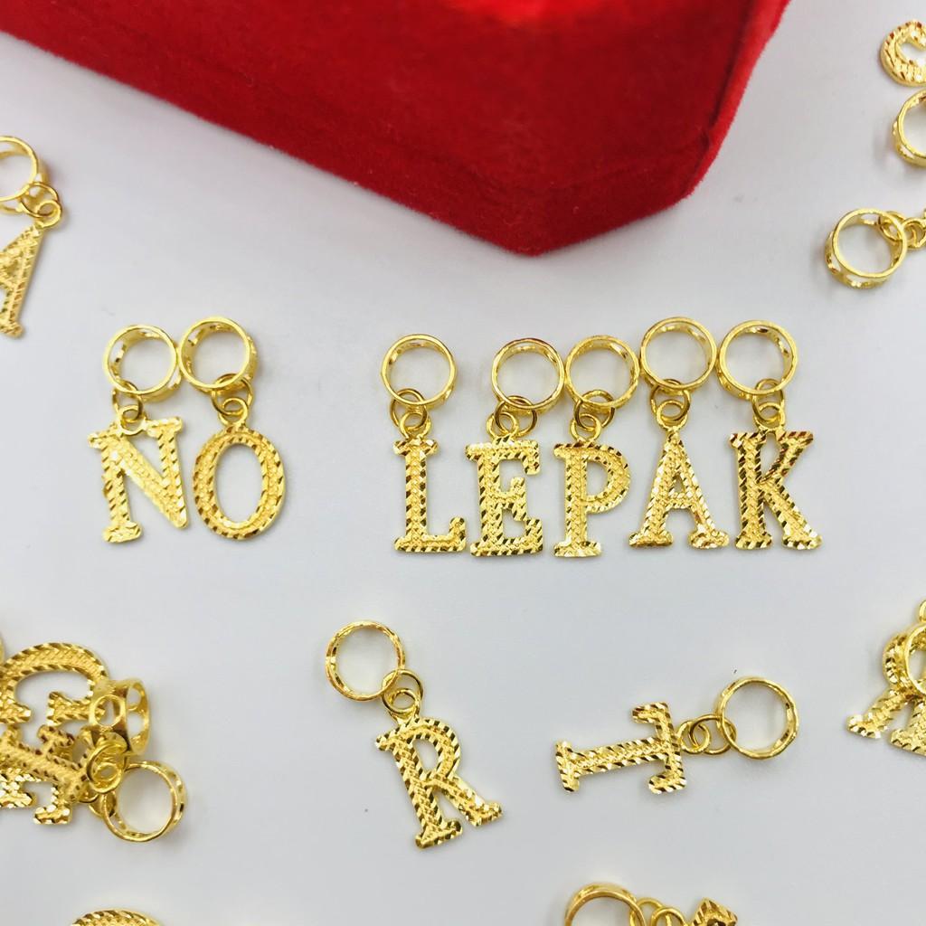Masdora Charm Emas 916 - Alphabets N-Z (916 Gold)