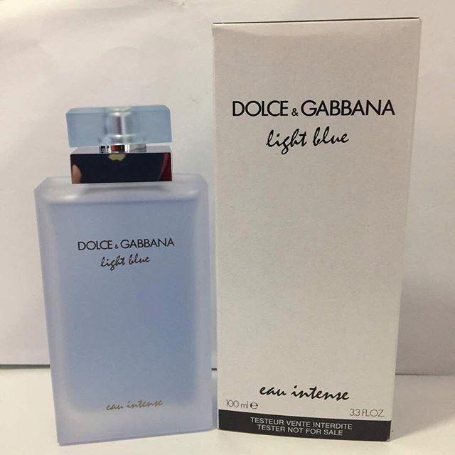 9825e1a8588b3d ORIGINAL Dolce   Gabbana Light Blue Eau Intense EDP 100ML Tester Perfume    Shopee Malaysia
