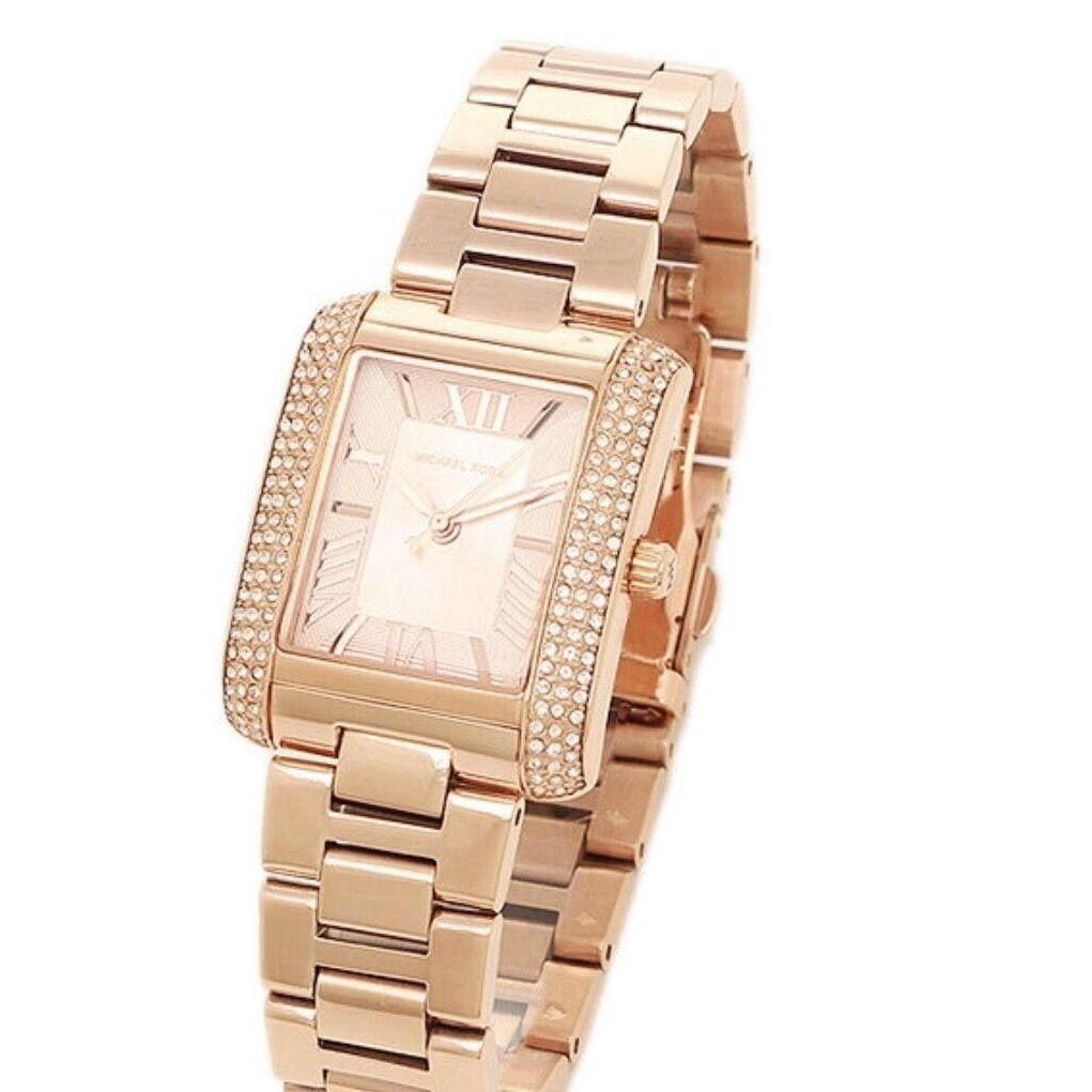 Original new Michael Kors MK 3572 women's rose gold quartz watch 34*8mm