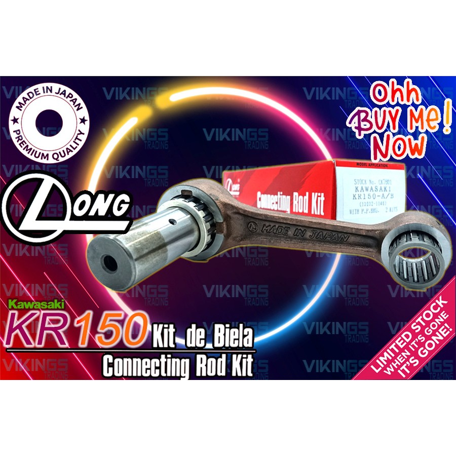 KAWASAKI KR150 LONG JAPAN ORIGINAL AUTHENTIC CON ROD CONNECTING ROD