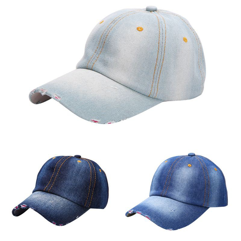 Gesture Hand Unisex Baseball Cap Cotton Denim Stylish Adjustable Sun Hat for Men Women Youth Black