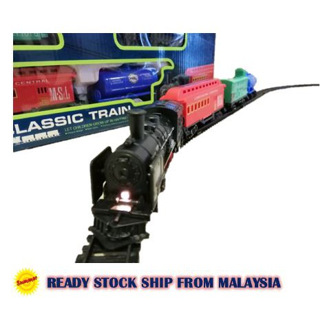 Summer Toys 18pcs Simulation Classic Train Electric Classical Railway Train Playset Toys for boys W32