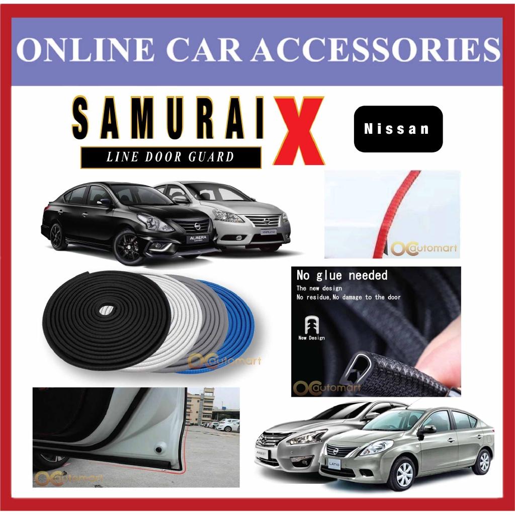 Samurai X Car Door Edge Guards 16Ft (5M) Rubber Car Door Protector Car Door Trim For Nissan Car (4 Door)