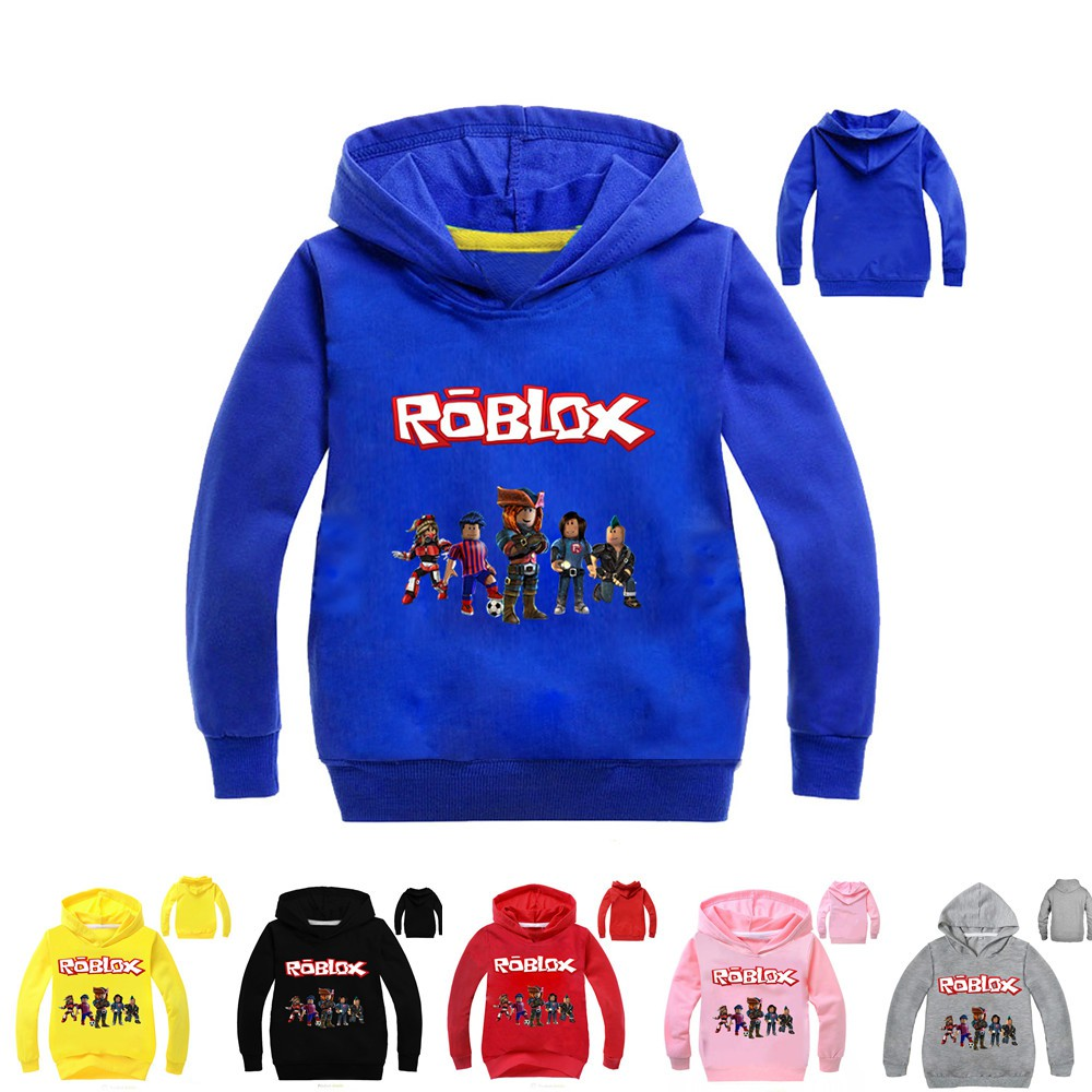 Roblox Kids Boys Girls Hooded Jacket Outerwear Autumn Hoodies Coat