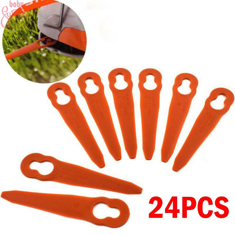 24 pcs//set Plastic Grass Cutting Spare Trimmer Cutters Parts Orange Accessories